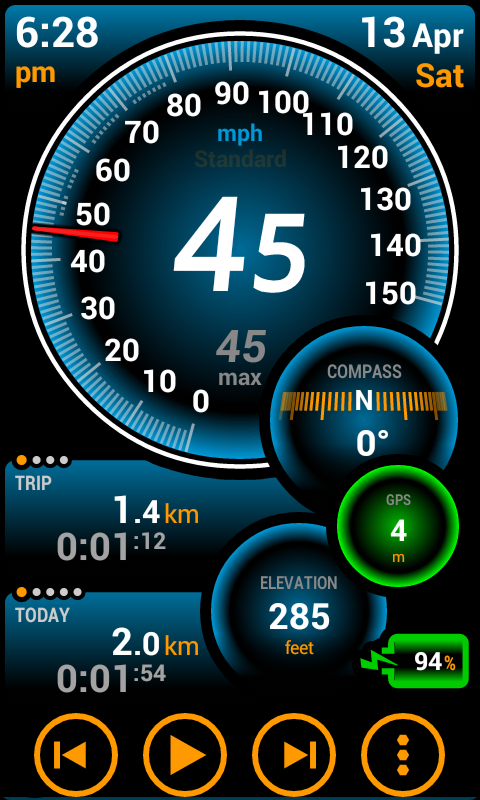 ulysse speedometer pro para android. Black Bedroom Furniture Sets. Home Design Ideas