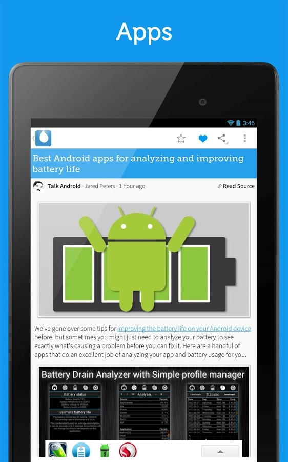 Noticias de android ingl s para android for App noticias android