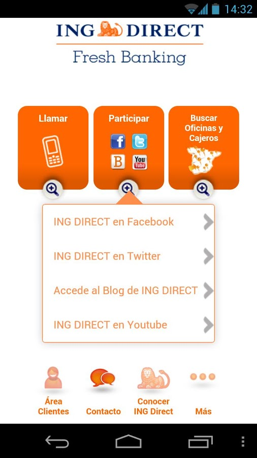 Ing direct espa a para android for Oficinas ing direct barcelona
