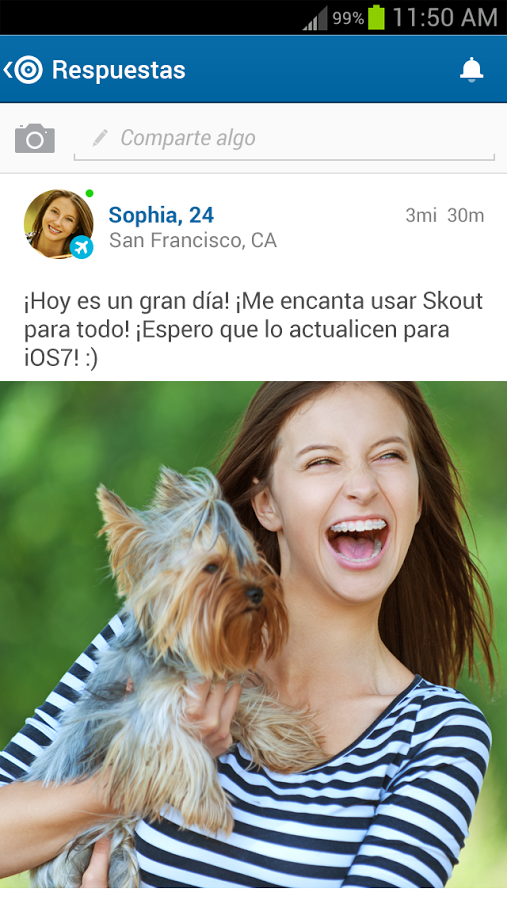 Skout shake to chat